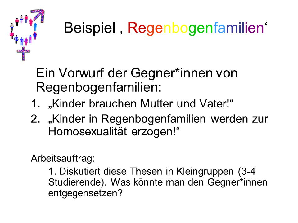 Beispiel ' Regenbogenfamilien'