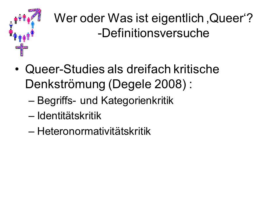 Wer oder Was ist eigentlich 'Queer' -Definitionsversuche
