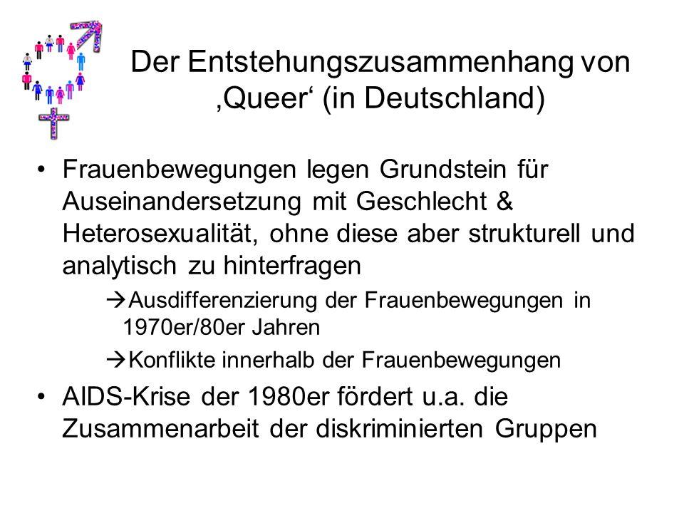 Der Entstehungszusammenhang von 'Queer' (in Deutschland)