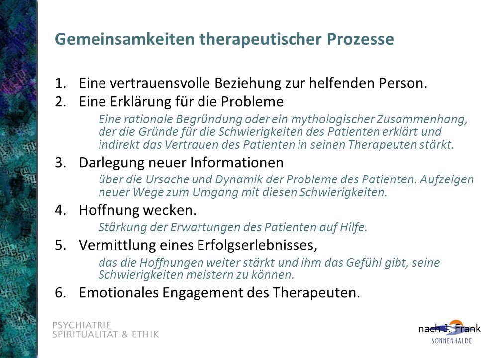 Gemeinsamkeiten therapeutischer Prozesse