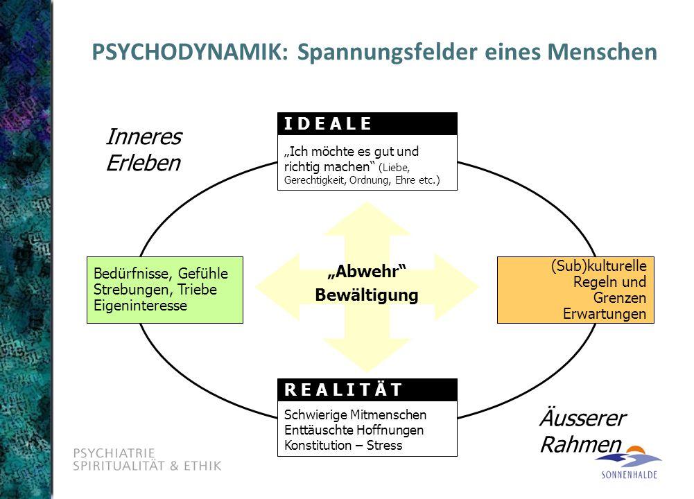 PSYCHODYNAMIK: Spannungsfelder eines Menschen
