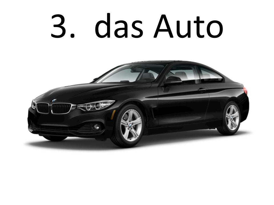 3. das Auto The car