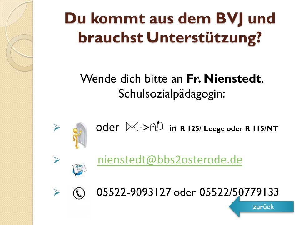 Du kommt aus dem BVJ und brauchst Unterstützung