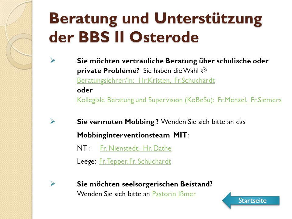 Beratung und Unterstützung der BBS II Osterode