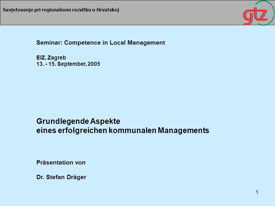 Grundlegende Aspekte eines erfolgreichen kommunalen Managements