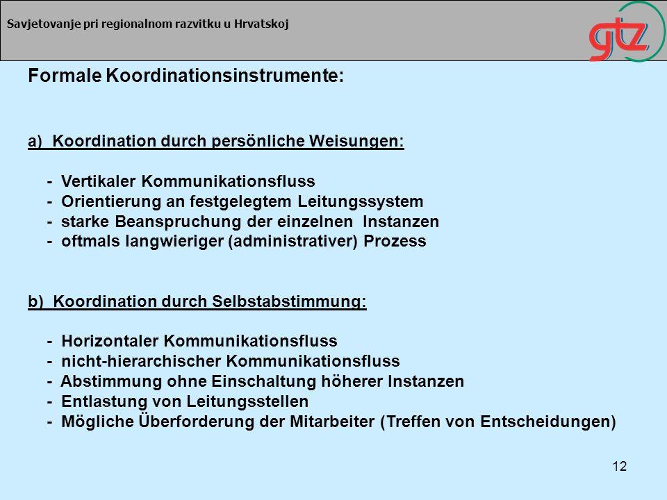 Formale Koordinationsinstrumente: