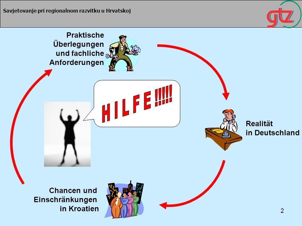 H I L F E !!!!! Praktische Überlegungen und fachliche Anforderungen