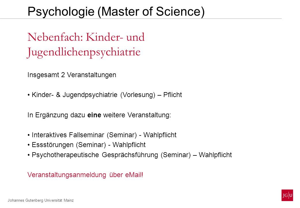 Psychologie (Master of Science)