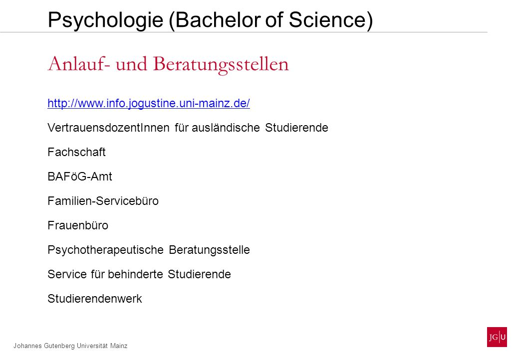 Psychologie (Bachelor of Science)