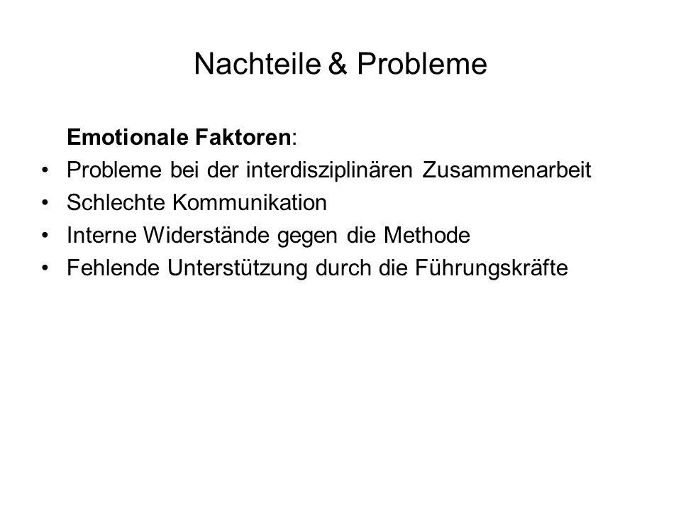 Nachteile & Probleme Emotionale Faktoren: