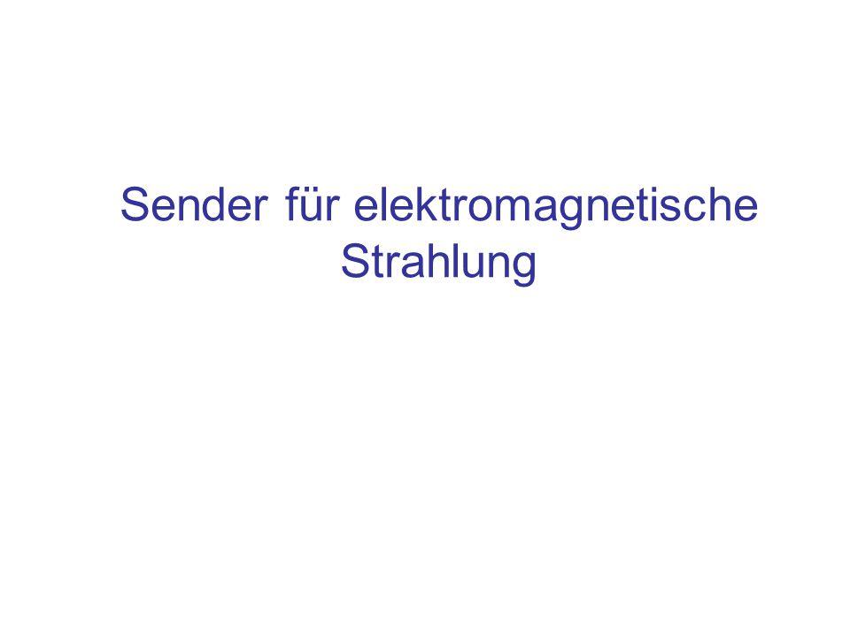 Sender für elektromagnetische Strahlung