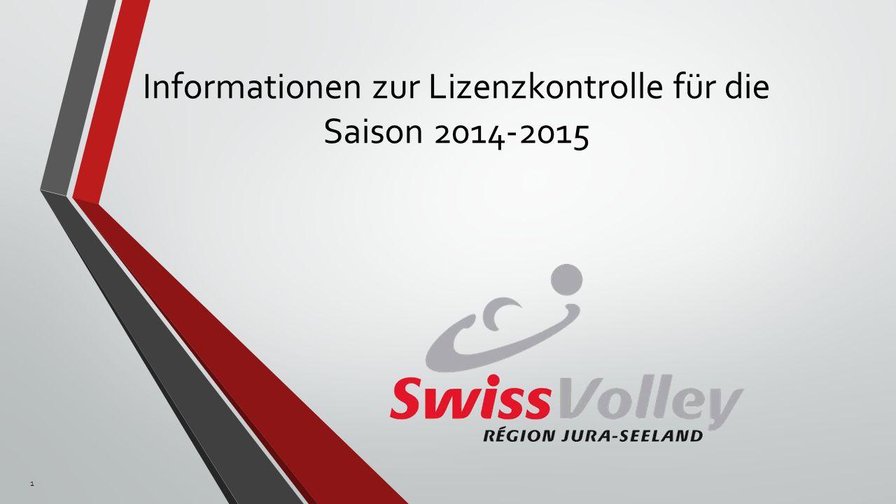 Informationen zur Lizenzkontrolle für die Saison 2014-2015