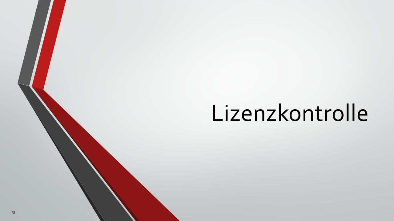 Lizenzkontrolle