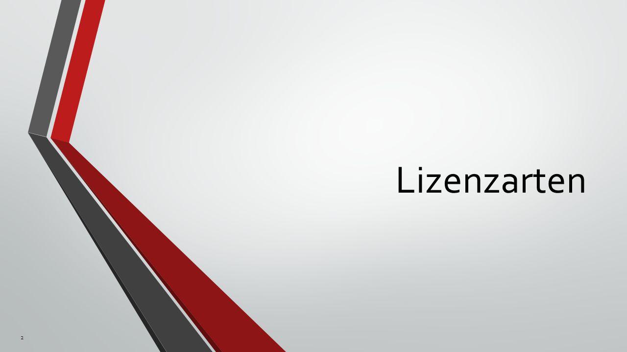 Lizenzarten