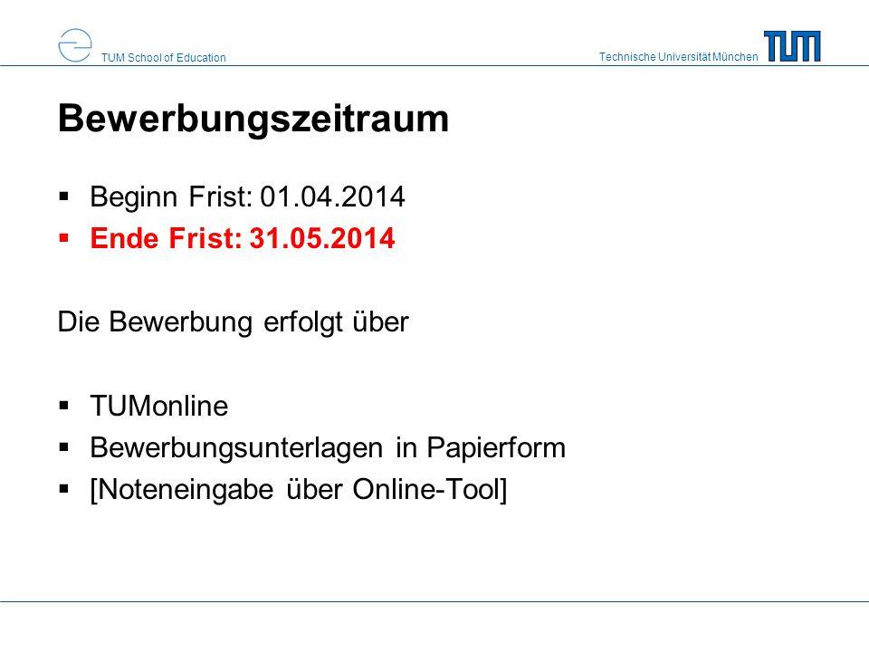 Bewerbungszeitraum Beginn Frist: 01.04.2014 Ende Frist: 31.05.2014