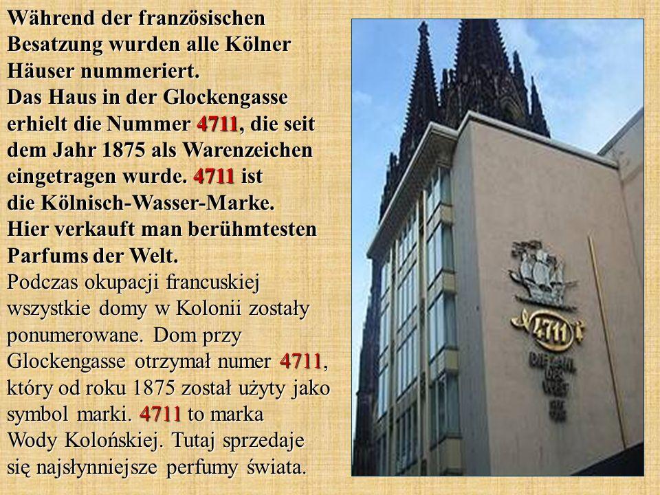 Während der französischen Besatzung wurden alle Kölner Häuser nummeriert.
