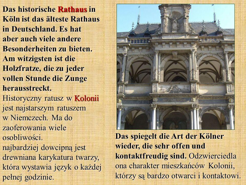 Das historische Rathaus in Köln ist das älteste Rathaus in Deutschland