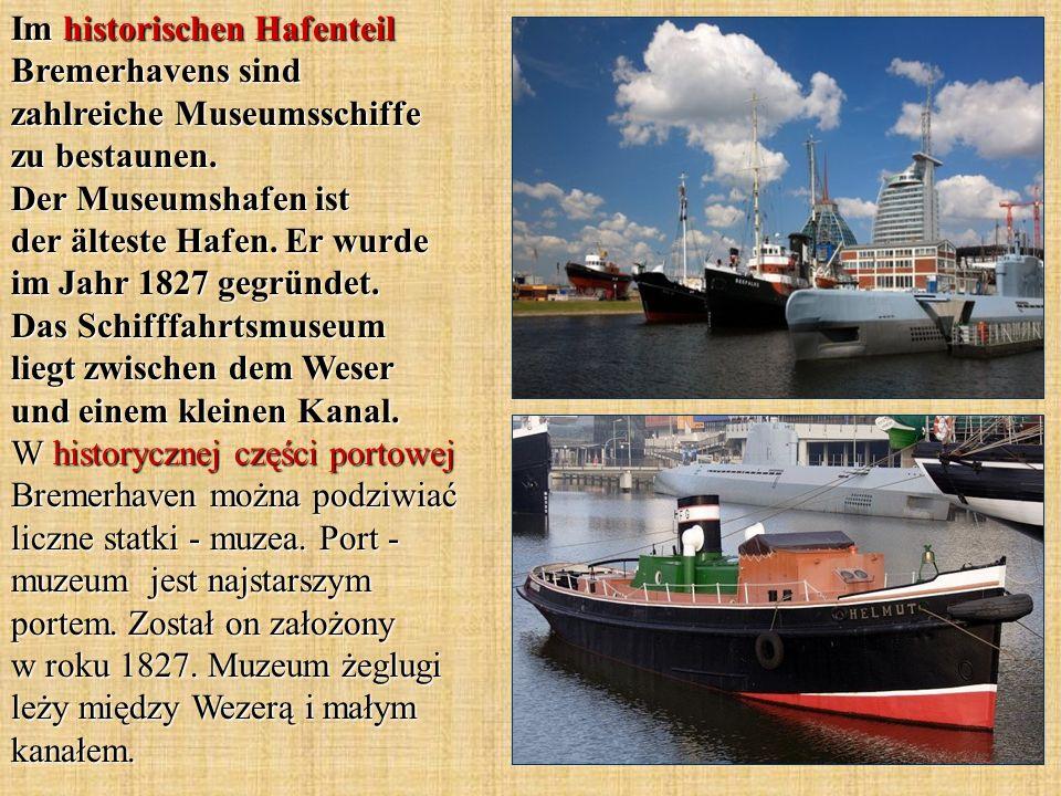 Im historischen Hafenteil Bremerhavens sind zahlreiche Museumsschiffe zu bestaunen.