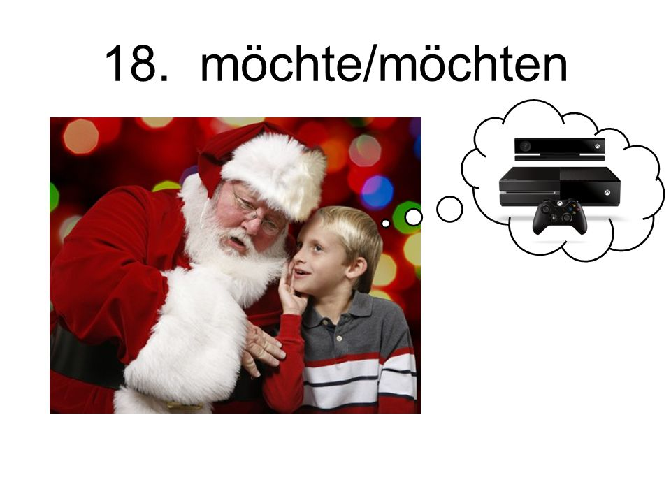 18. möchte/möchten Would like….