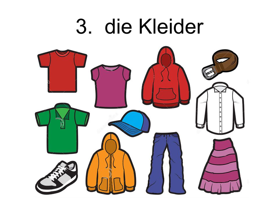 3. die Kleider The clothes