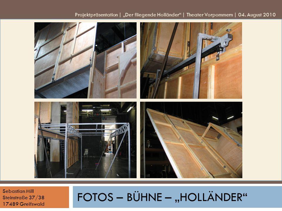"""Fotos – Bühne – """"Holländer"""