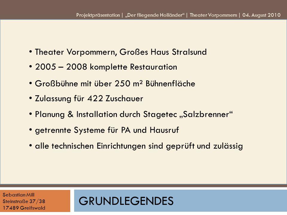 Grundlegendes • Theater Vorpommern, Großes Haus Stralsund