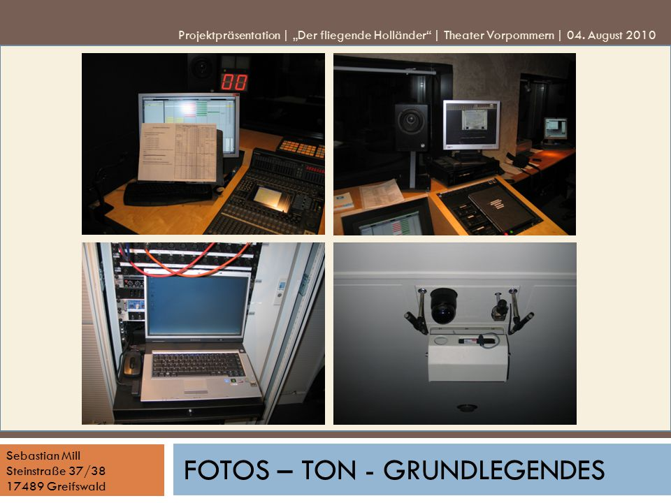 Fotos – Ton - Grundlegendes
