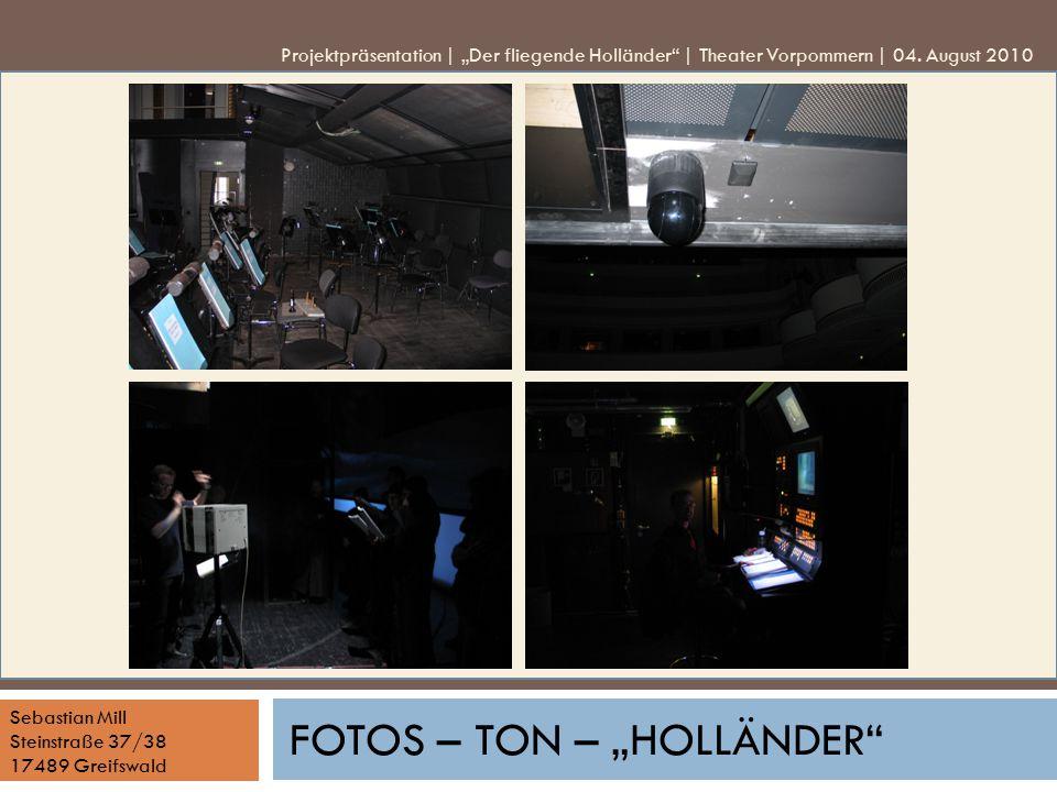 """Fotos – Ton – """"Holländer"""