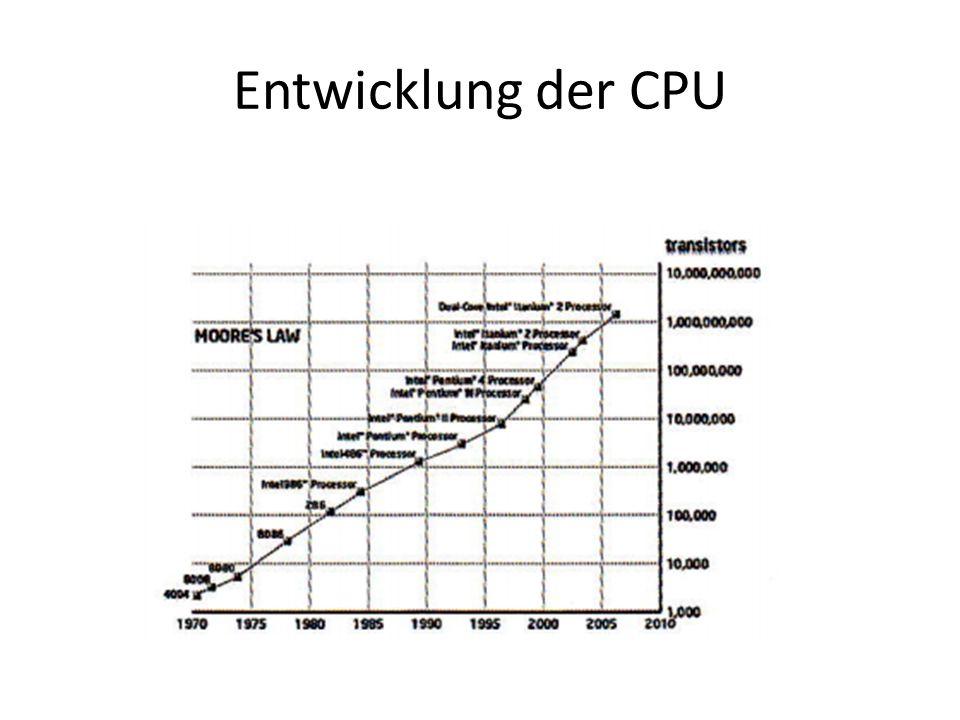 Entwicklung der CPU