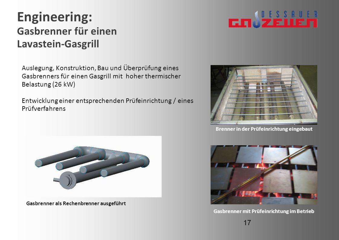 Engineering: Gasbrenner für einen Lavastein-Gasgrill