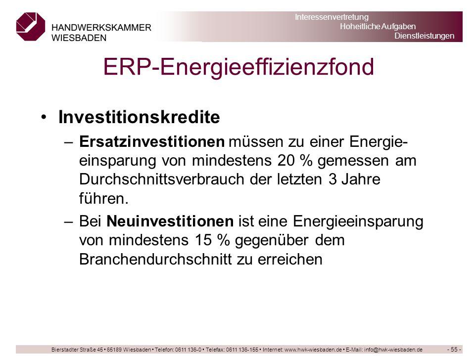 ERP-Energieeffizienzfond