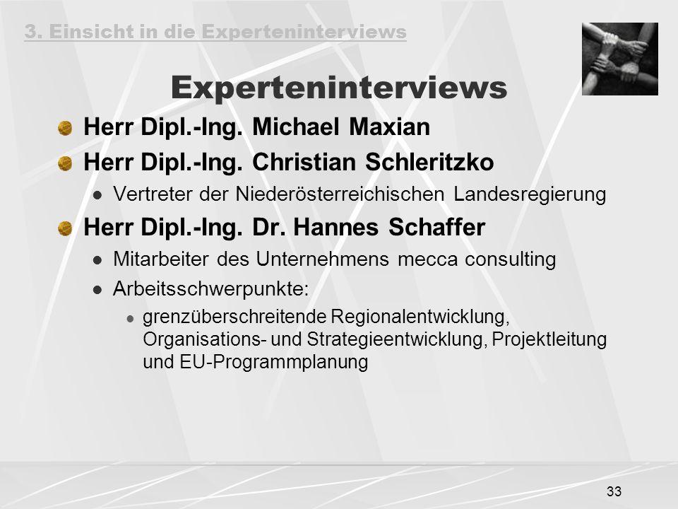 Experteninterviews Herr Dipl.-Ing. Michael Maxian