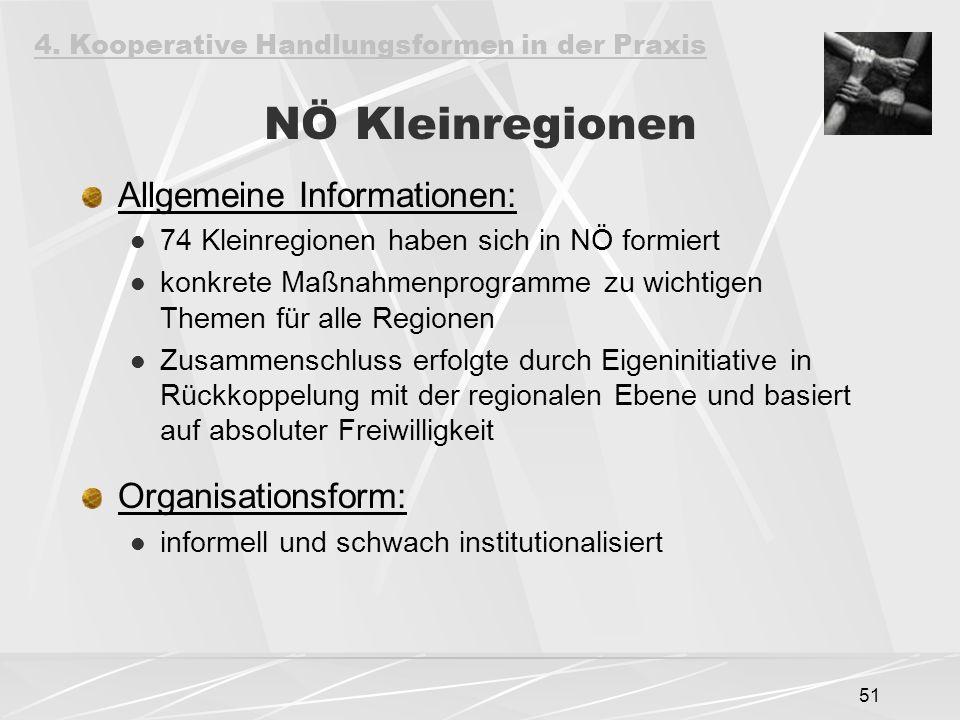 NÖ Kleinregionen Allgemeine Informationen: Organisationsform: