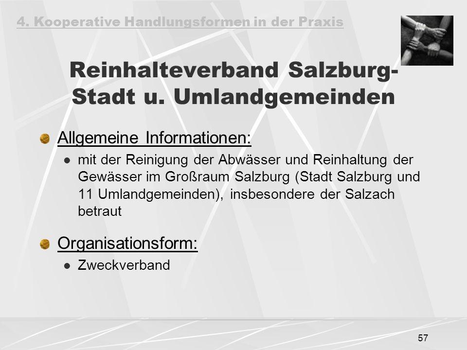 Reinhalteverband Salzburg-Stadt u. Umlandgemeinden