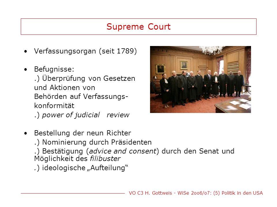 Supreme Court Verfassungsorgan (seit 1789) Befugnisse: