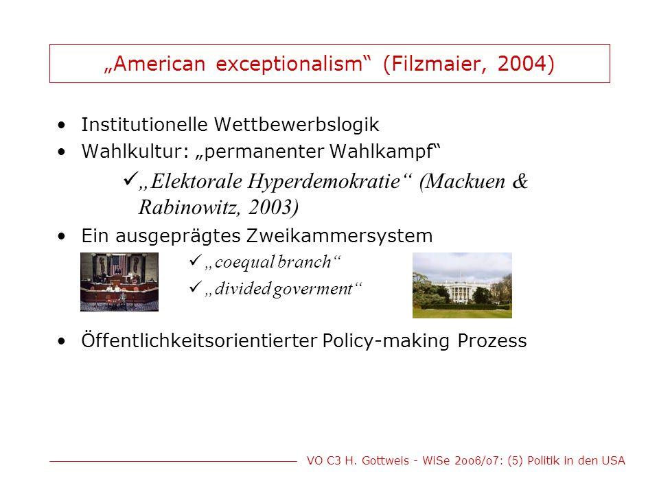 """""""American exceptionalism (Filzmaier, 2004)"""