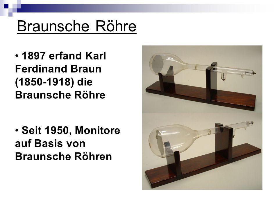 Braunsche Röhre 1897 erfand Karl Ferdinand Braun (1850-1918) die Braunsche Röhre.