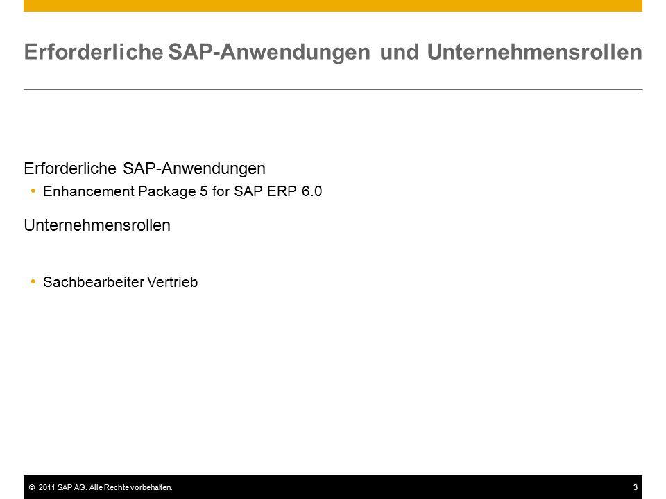 Erforderliche SAP-Anwendungen und Unternehmensrollen
