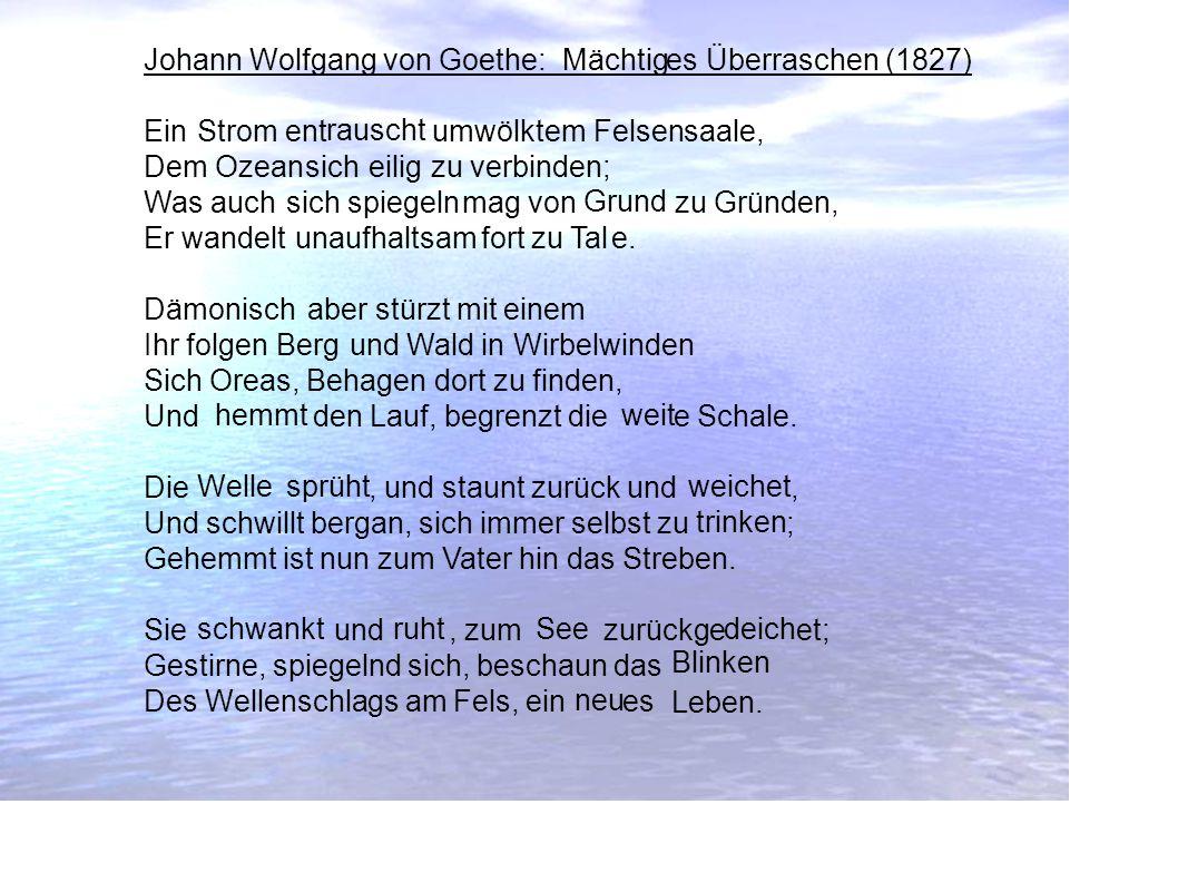 Johann Wolfgang von Goethe: es Überraschen (1827)