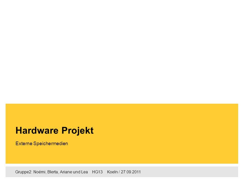 Hardware Projekt Externe Speichermedien
