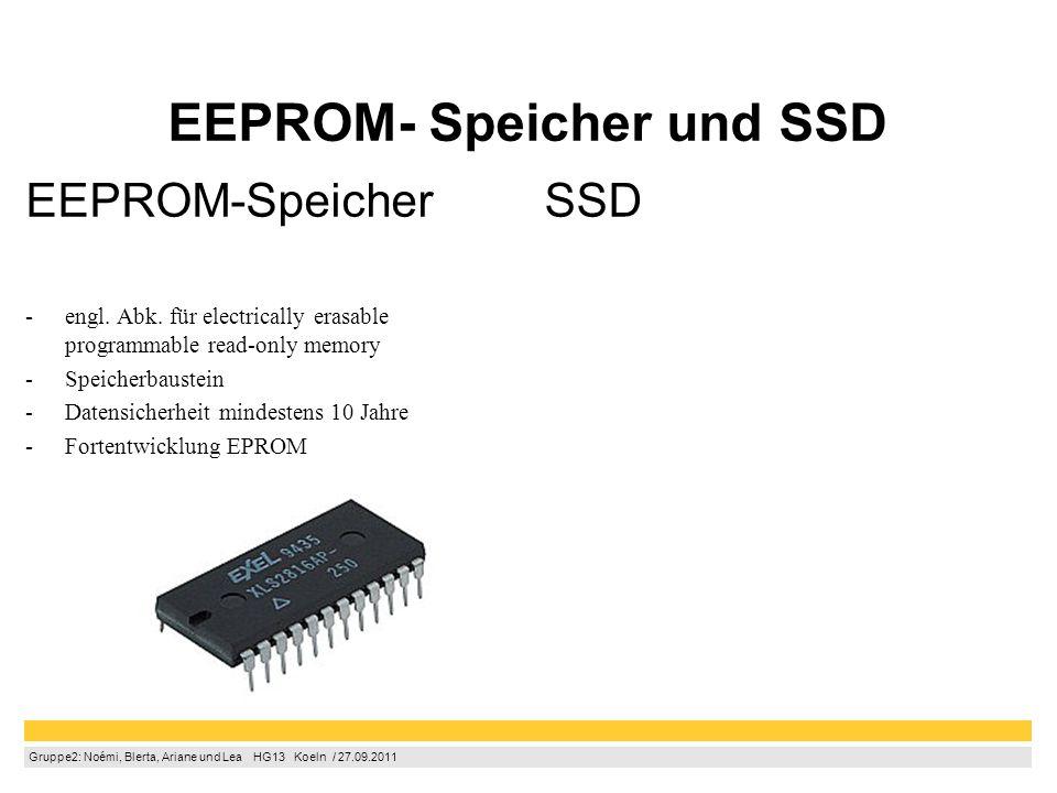 EEPROM- Speicher und SSD