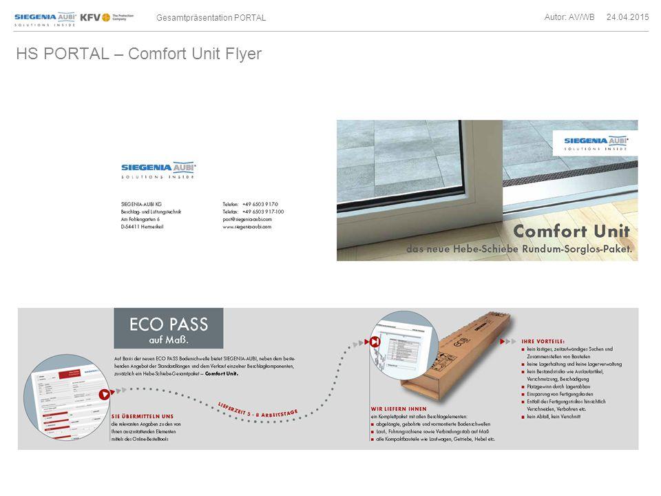 HS PORTAL – Comfort Unit Flyer