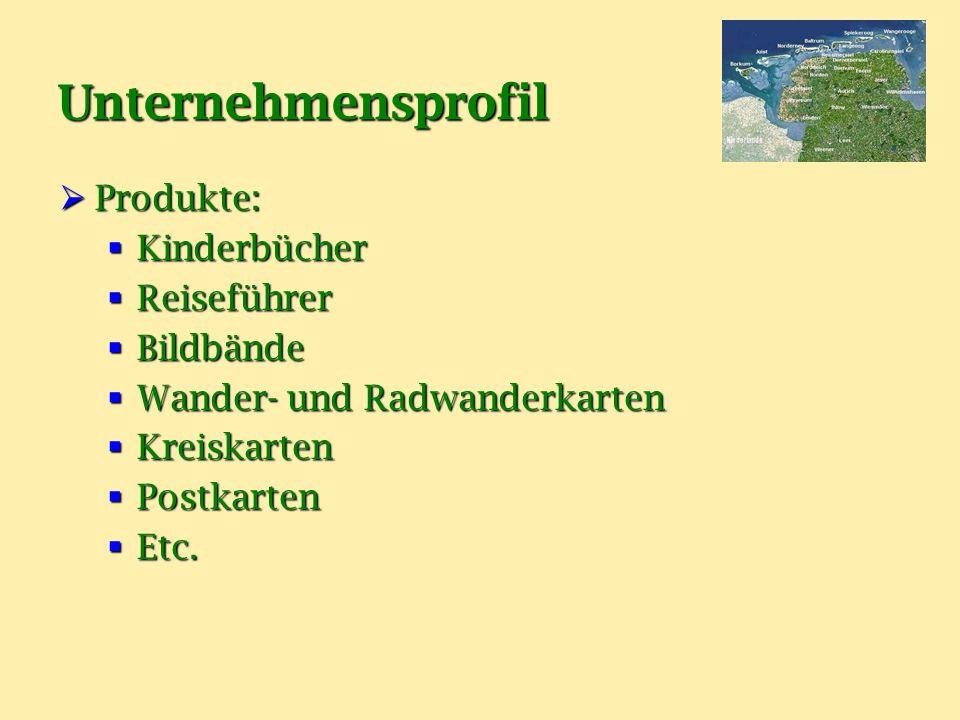 Unternehmensprofil Produkte: Kinderbücher Reiseführer Bildbände