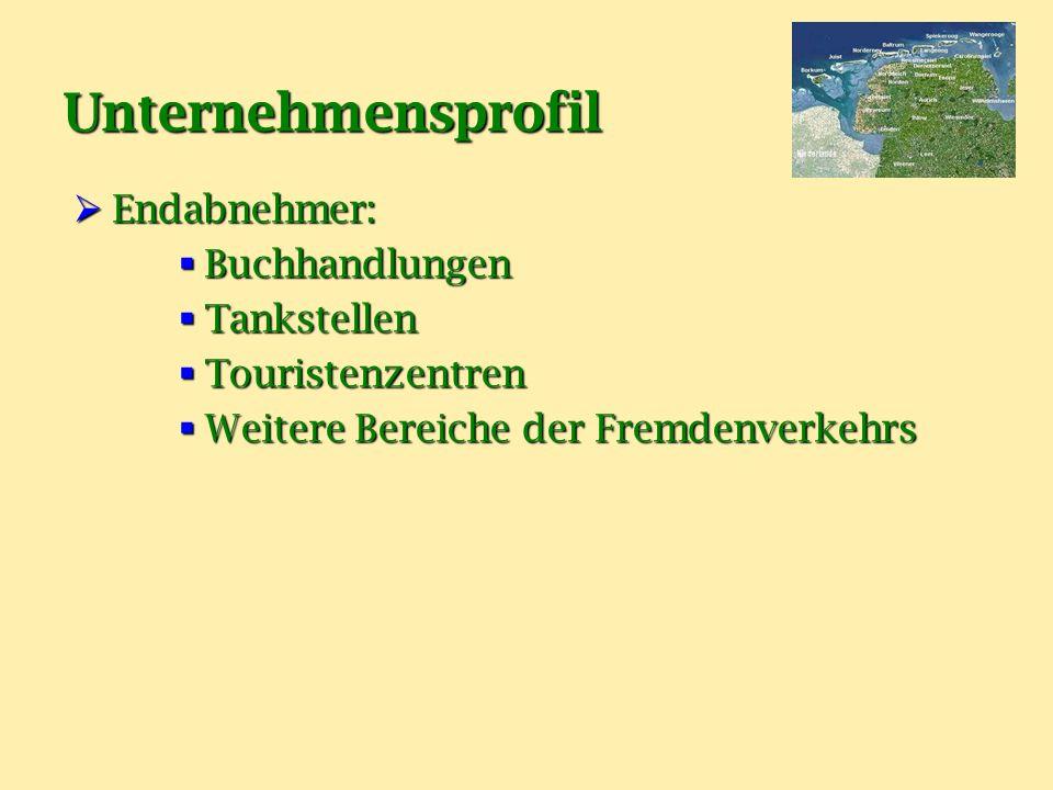 Unternehmensprofil Endabnehmer: Buchhandlungen Tankstellen