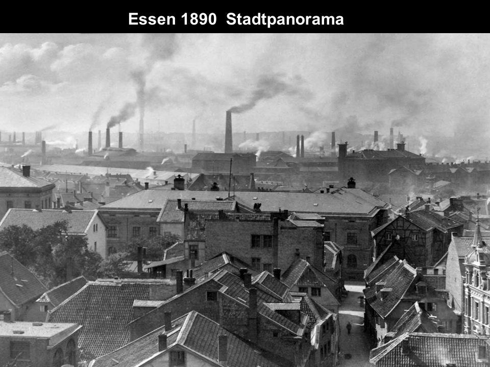 Essen 1890 Stadtpanorama
