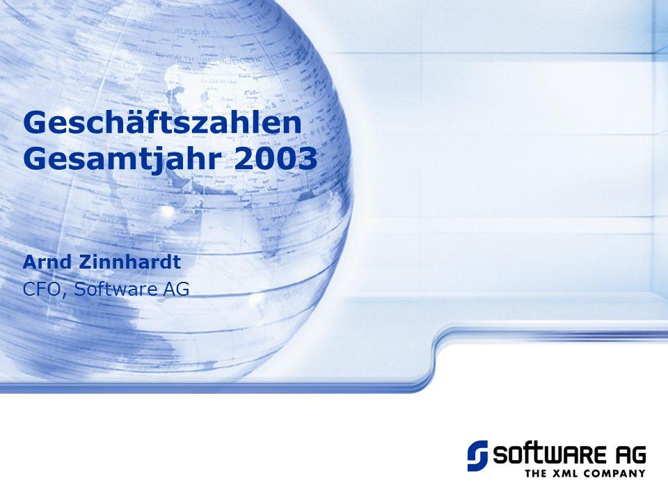 Geschäftszahlen Gesamtjahr 2003