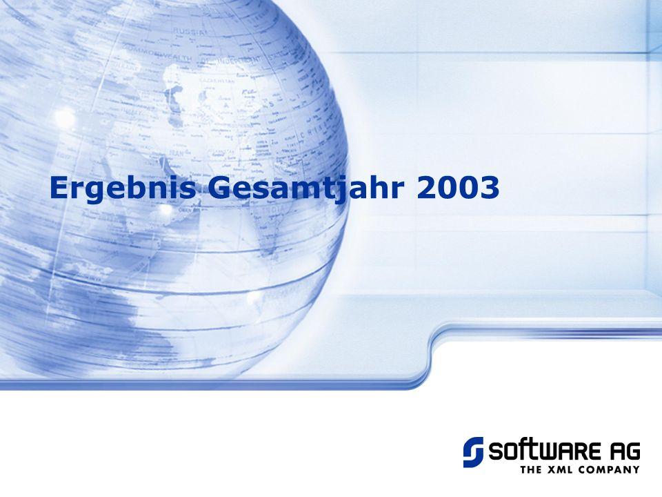 Title of PPT 20-Mar-17 Ergebnis Gesamtjahr 2003 © Software AG, 2003