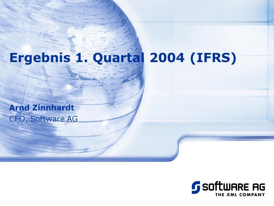 Ergebnis 1. Quartal 2004 (IFRS)