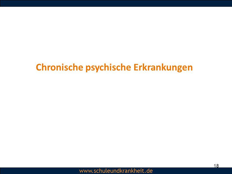 Chronische psychische Erkrankungen