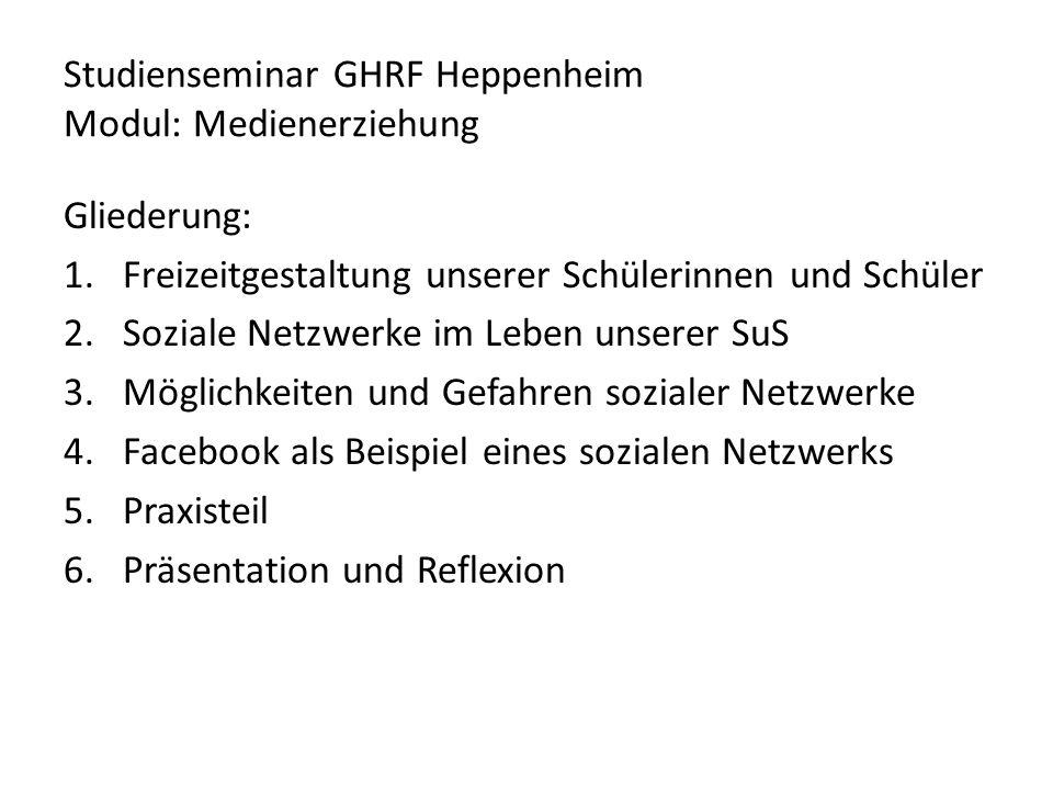 Studienseminar GHRF Heppenheim Modul: Medienerziehung